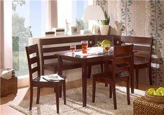 Corner Bench Kitchen Table Set | ... Solid Wood Corner Bench Kitchen Booth Breakfast Nook Set Table | eBay