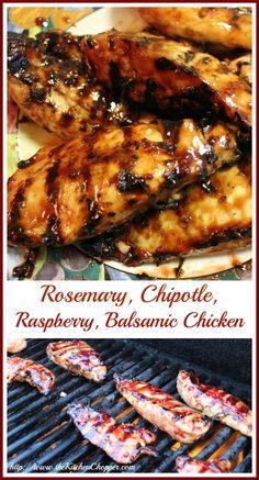 Rosemary, Chipotle, Raspberry, Balsamic Chicken