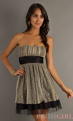 Short Strapless Dress-New Years Eve dress??
