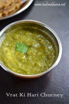 Falahari Tamatar Dhaniya Chutney | Vrat ki Hari Chutney | Navratri Vrat Recipes ~ Indian Khana