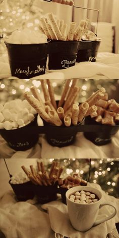 So I'm already married, but I'd love a Hot Cocoa bar like this at a winter party. Or to have one at a party at my home this coming winter... /ES