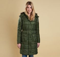 3aaf90c1302 Barbour Winterton Quilt Coat Kelp