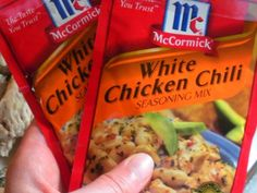 white beans, 1 can Rotel (mild), 1 pkg McCormick White Chicken Chili ...