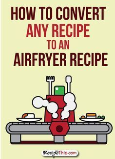 How to Convert Any Recipe to an Airfryer - also included are a variety of cooking charts with times and temperatures.