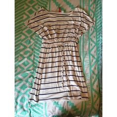 Navy and white striped dress EUC size 38 in H&M sizing H&M Dresses Mini