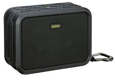 iHome IBN6BEX Rugged Portable Waterproof Bluetooth Stereo Speaker  Black ** Read more reviews of the product by visiting the link on the image-affiliate link.