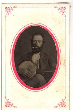 Tintype: Banjo Player With Stogie | Flickr - Photo Sharing!