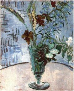 Still Life: Glass with Wild Flowers  Vincent van Gogh  Painting, Oil on Canvas  Auvers-sur-Oise: June, 1890  Private collection