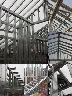 Steel House, Metal Structure, Steel Frame, Frames On Wall, Metal Working, Building, Furniture, Ideas, Prefab Houses