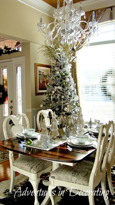 Adventures in Decorating: Snow in the Dining Room