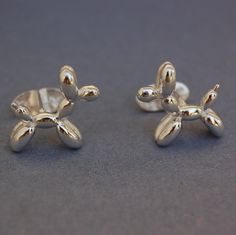 Solid sterling silver balloon Dog cufflinks by beaujangles on Etsy, $55.00