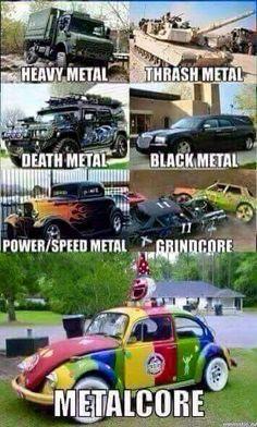 Heavy Metal Rock, Power Metal, Nu Metal, Black Metal, Music Humor, Music Memes, Metal Meme, Extreme Metal, Band Memes