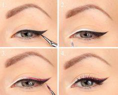 Love the multi wing Eyeliner Images, No Eyeliner Makeup, Make Up, Beauty Stuff, Vanity, Windows, Jewelry, Makeup, Dressing Tables