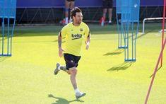 FYI: Lionel Messi Returns To Barcelona Training Ahead Of La Liga Restart Calf Injury, Messi Pictures, Messi Photos, Lionel Messi Injury, Barcelona Training, Muscle Problems, Camp Nou, Goalkeeper