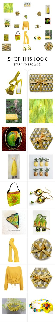 """Sunshine in September"" by einder ❤ liked on Polyvore featuring Casadei, Olivine, Balmain and Giallo"