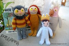 PATTERNS Where the Wild Things Are Set of Four Crochet Amigurumi Patterns.