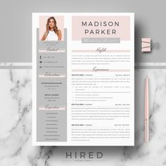 Creative & modern Resume / CV Template for Word AND Pages. Resume design MADISON Professional Resume / CV + Cover Letter + References + free tips Cv Simple, Simple Resume, Basic Resume, Best Resume Format, Modern Resume Format, Unique Resume, Resume Layout, Resume Cv, Resume Writing