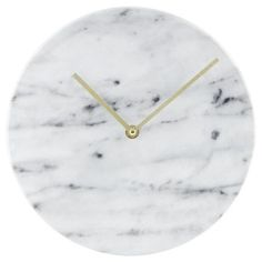 """25 Decor Pieces Under $50 to Glam Up Any Room: TARGET 10"""" FAUX-MARBLE WALL CLOCK. Time is definitely on your side when you have such a stylish clock. ($14.99; Target)"""