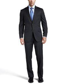Multiseason Two-Button Suit, Gray by Ermenegildo Zegna at Neiman Marcus.