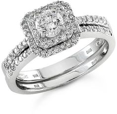 Diamond bridal sets provide perfectly coordinated style that will wow on the wedding day and serve as stunning reminders of promises made for years to come. With these sets, there's no question that your rings will work together to create a unified picture of beauty, love and commitment—one that will be worn and treasured for a lifetime - applesofgold.com