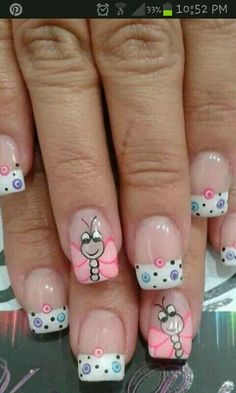 Bugs Awesome Spring Nails Design for Short Nails Easy Summer Nail Art Ideas Short Nail Designs, Nail Designs Spring, Nail Art Designs, Nails Design, Spring Design, Toe Designs, Design Art, Spring Nail Art, Spring Nails