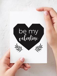 Be My Valentine Card.  valentines day gifts for him | valentines day gifts for her | valentines day gifts for boyfriend | valentines day gifts for husband | valentines day gifts for girlfriend | valentines day gifts for wife | valentines day gifts for fiance | valentines day cards printable | valentines day cards for boyfriend | cards for him | cards for girlfriend | minimalist card | #valentinesday #valentinesdaygift #valentinesdaygiftideas #romantic #valentine #giftforher #minimal