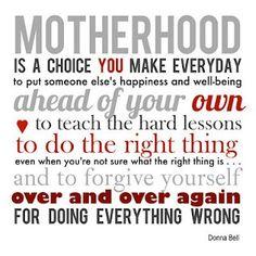 Motherhood- your kids first.