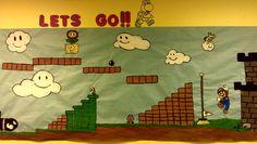 Super Mario first day of school bulletin board