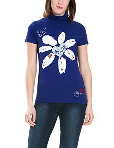 Desigual Bei - T-shirt - Imprimé - Manches courtes - Femme - Bleu (Navy) - FR: 36 (Taille fabricant: XS) Desigual http://www.amazon.fr/dp/B00VMASDEW/ref=cm_sw_r_pi_dp_o0b8vb1NVAJQJ