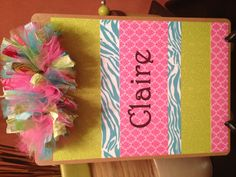 Turquoise pink and lime green decorated clipboard Memo Boards, Board Art, Clipboard Wall, Clipboards, Teacher Appreciation Week, Pink Turquoise, Student Gifts, Love Design, Kappa