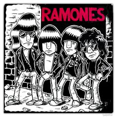 The Ramones - Rocket To Russia - Niklas Coskan Music Album Covers, Music Albums, Ramones, Caricatures, Rocket To Russia, Face The Music, Britpop, Rock Posters, Punk Art