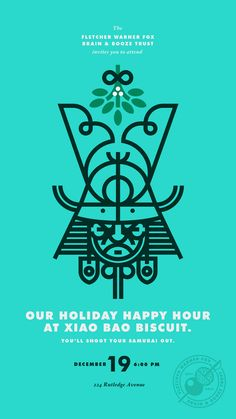 Holiday Happy Hour invitation by J Fletcher Design Typography Poster, Graphic Design Typography, Graphic Design Illustration, Graphic Design Layouts, Graphic Design Inspiration, Corporate Design, Branding Design, Icon Design, Design Art