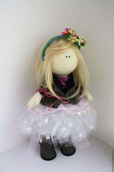 """Купить """"Машенька"""" кукла текстильная интерьерная - комбинированный, кукла ручной работы, тыквоголовка, кукла в…"""