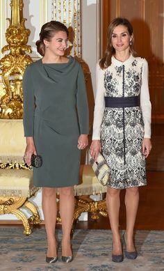 Noblesse et Royautés: Spanish State Visit to Luxembourg, November 11, 2014-HGD Stéphanie and Queen Letizia
