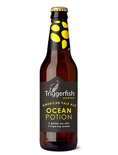Triggerfish Ocean Potion beer packaging, designed by Sumi Creative Co. More Beer, Wine And Beer, Beers Of The World, Bottle Packaging, Wine And Spirits, Branding, Home Brewing, Somerset West, Root Beer