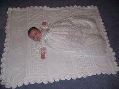 Knitting Patterns Christening Baptism   HEIRLOOM CHRISTENING BLANKET FREE CROCHET PATTERNS   FREE PATTERNS