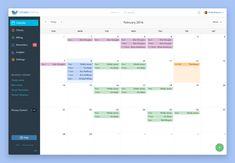Calendar Week View by Eric Hoffman Calendar Ui, Today Calendar, Kids Calendar, Calendar Design, Dashboard Interface, Web Dashboard, Dashboard Design, User Interface Design, Monthly Planner Printable