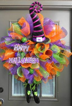 Adorable Halloween witch wreath Ms.Witch by kathyleeskreations, $85.00