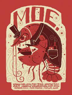 MOE gig poster