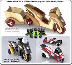 Scroll Saw Magic Shock Hog Mark-2 Wood Toy Plan Set
