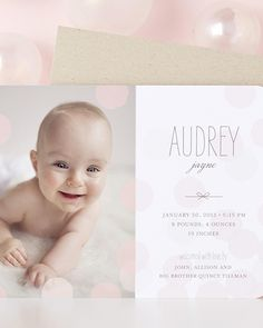 Give baby a fun introduction with custom birth announcements from Tiny Prints.