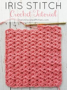 The Iris crochet stitch is an easy, elegnt shell type stitch with a one row repeat. Its excellant drape make is a great choice for blankets, scraves, home decor and more! # crochet stitches for blankets Iris Stitch Crochet Tutorial Gilet Crochet, Stitch Crochet, Tunisian Crochet, Learn To Crochet, V Stitch, Crochet Afghans, Crochet Squares, Crochet Stitches For Blankets, Crochet Stitches Patterns