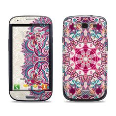 Samsung Galaxy S3 Phone Case Cover Decal  Floral by skunkwraps, $9.95