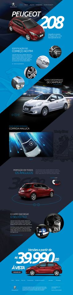 Unique Web Design, Peugeot 208 #WebDesign #Design…