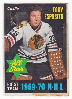 45 yrs ago, rookie goalie Tony Esposito recorded shutout of the season. And it was only January! Blackhawks Hockey, Hockey Goalie, Hockey Games, Chicago Blackhawks, Wild Hockey, Goalie Mask, Sports Figures, Hockey Players, One Team
