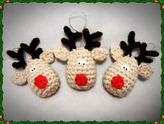 Reindeer Crochet Christmas Decoration Pattern    $0.99