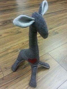 """Gigi the Giraffe"" Giraffe, Garden Sculpture, Toys, Outdoor Decor, Handmade, Home Decor, Activity Toys, Felt Giraffe, Hand Made"