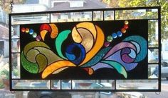 A Cluster of Color Stained Glass Window Panel Signed and Dated | eBay
