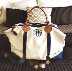Monogrammed Duffle | The Ultimate Christmas Gift Guide