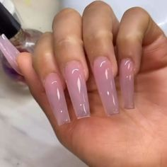 my insta: immysheraz✨ - Nails Long Square Acrylic Nails, Clear Acrylic Nails, Summer Acrylic Nails, Summer Nails, Natural Acrylic Nails, Pastel Nails, Spring Nails, Nail Swag, Cute Acrylic Nail Designs